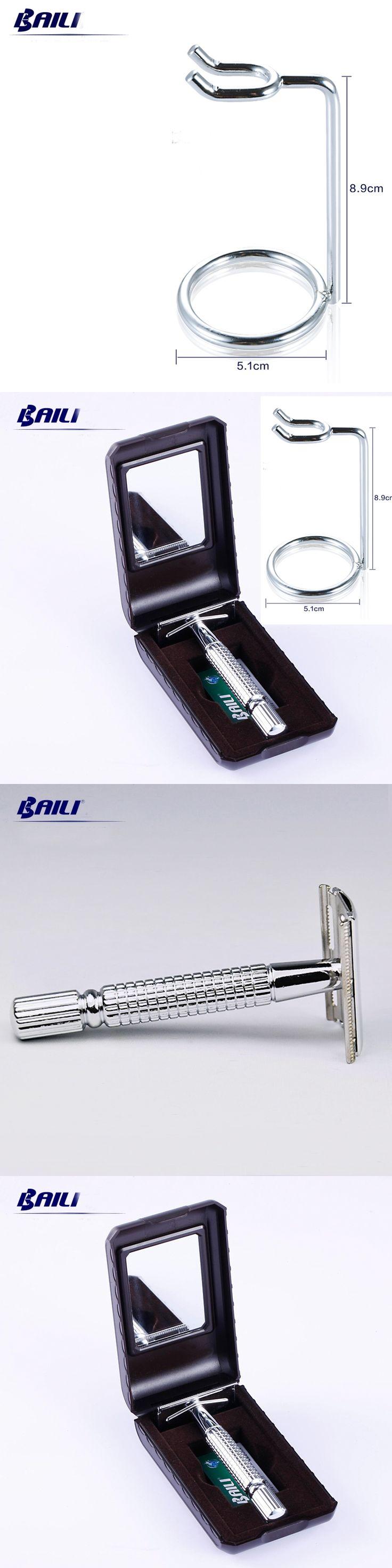 1 Safety Razor +1 Stand + 30 Pcs Blades Men Shaving Set Manual Shaver Kit For Men Maquinillas De Afeitar