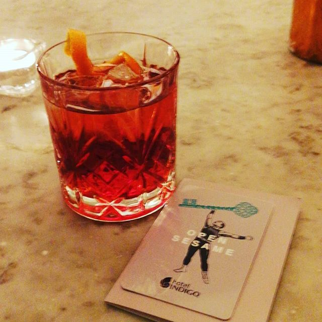 Negroni time with my @ihg membership drink voucher. @IndigoLdnKen is a great hotel with wonderful staff.