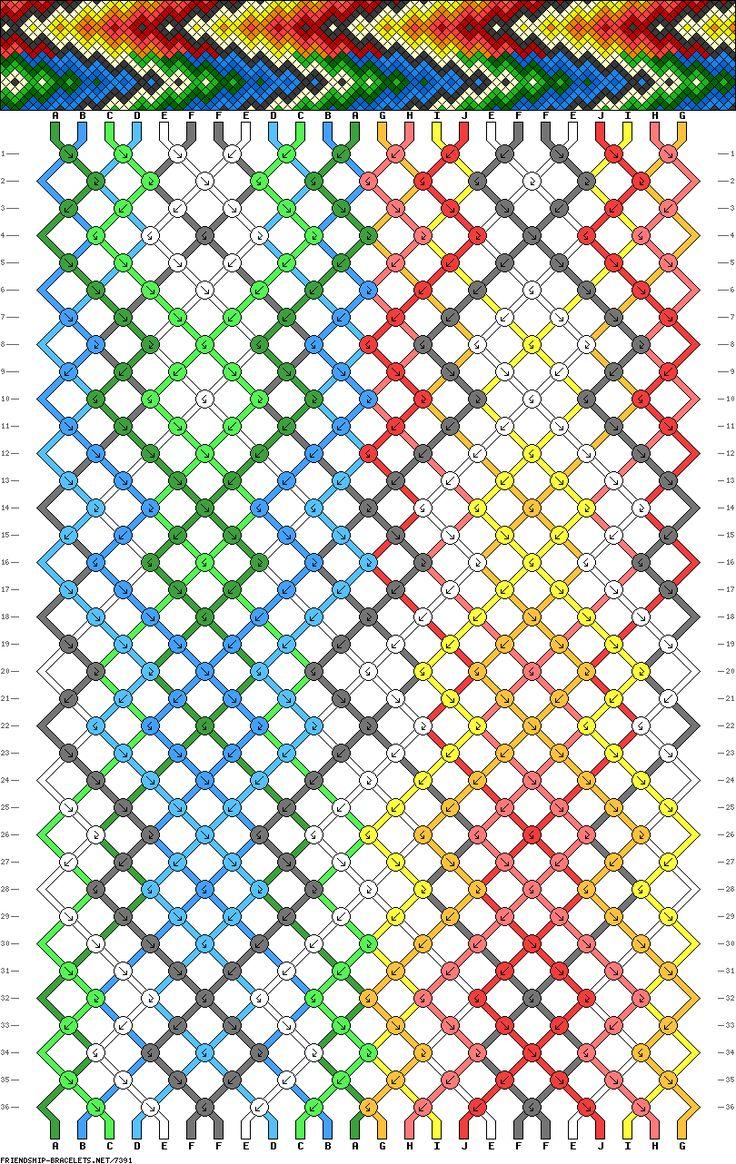 24- string Friendship bracelet pattern; this makes me excited. Summer bracelet(: