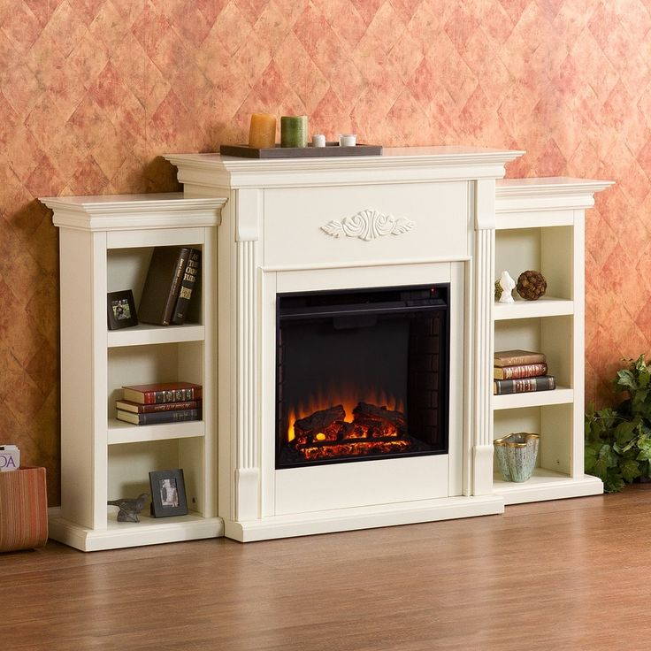 Harper Blvd Dublin 70-inch Ivory Electric Fireplace | Overstock.com Shopping - The Best Deals on Indoor Fireplaces