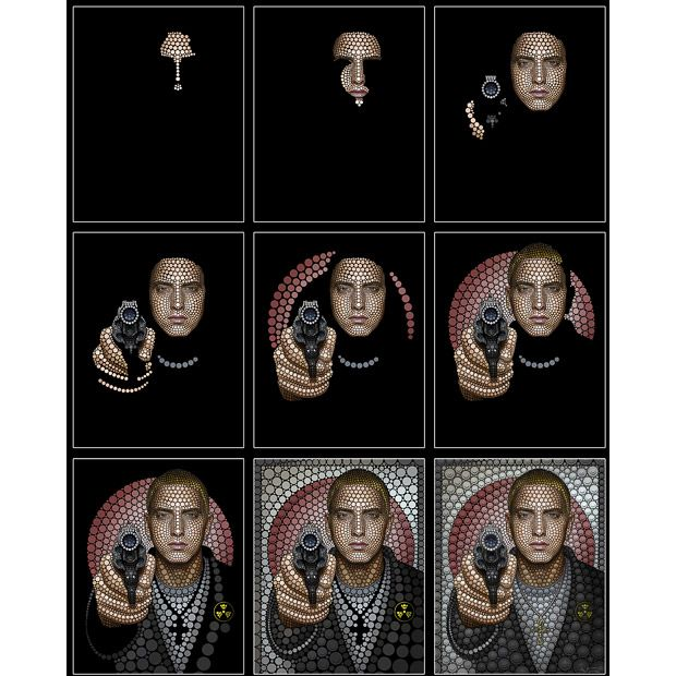 Eminem, by Ben Heine