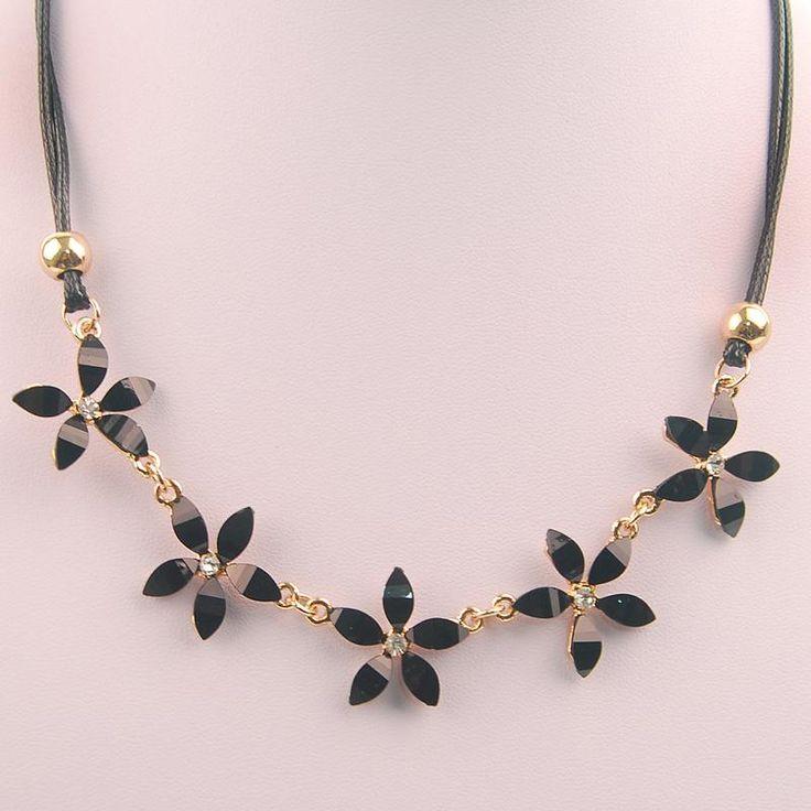 Women Luxury Statement Choker Necklace Vintage Gem Flowers Design Rhinestones Maxi Big Necklaces & Pendants 2016 Fashion Jewelry