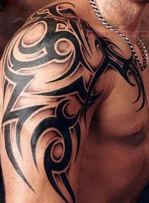 Tribal Shoulder Tattoo Designs: Tribal Arm Tattoo For Men ~ tattooeve.com Tattoo Design Inspiration