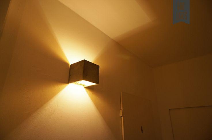 Wandlampe indirekte Beleuchtung Beton Gold [B3] von GANT lights auf DaWanda.com
