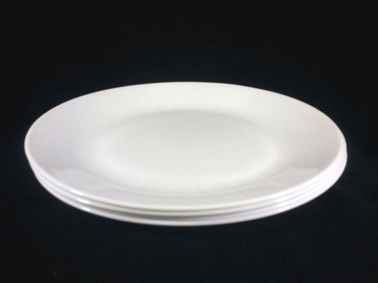 Corelle Winter Frost White Dinner Plates Set of 4 10 1/4 Inches                  #Corelle #DinnerPlates