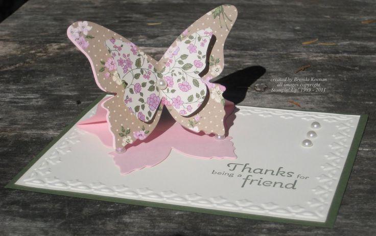Как сделать объемную бабочку для открытки