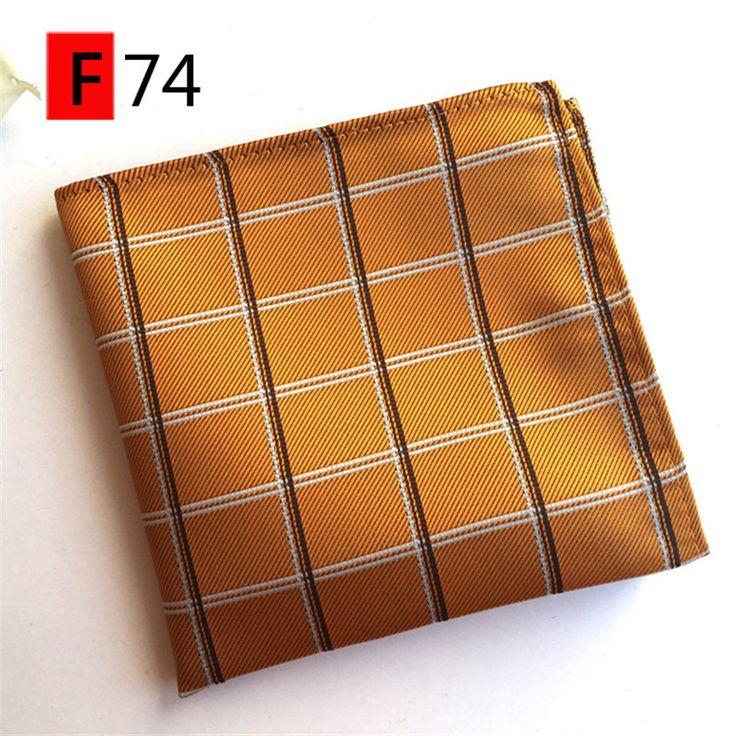 SCST Brand 2017 New Classic Plaid Mens Silk Handkerchiefs For Men Pocket Square 20 Model A064