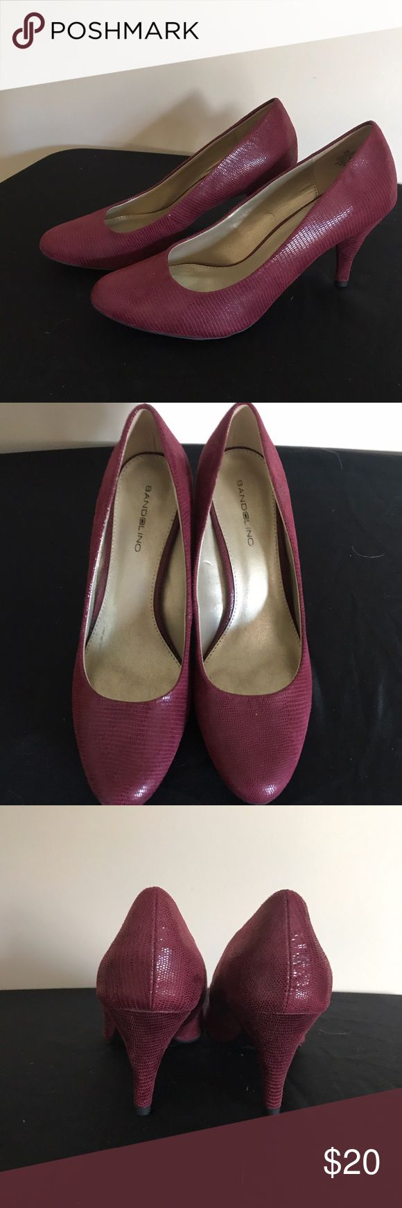 Bandolino Maroon Pumps Gently worn maroon pumps Bandolino Shoes Heels