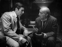 Frank Pentangeli with Michael Corleone at Lake Tahoe