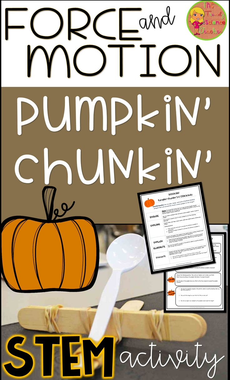 Get your middle and high school Physical Science students engaged with this Fall themed Pumpkin Chunkin STEM activity!