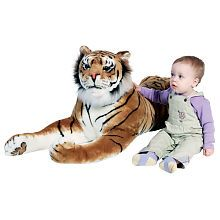 You'll be roaring when you bring home this giant friend to adore! This soft, cuddly, premium-quality giant plush Tiger has beautiful features, a realistic expression and an incredible price! Plus, this Tiger is over 6 feet long, which makes for lots of play.<br><br>In 1989 The Melissa & Doug Company started in the garage of the home where Doug grew up! Thanks to your support, the Melissa & Doug Company grew and was able to move into a real office down the road. Their philosophy has remained…