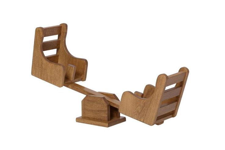 American Made Wooden Doll Playground See-Saw DutchCrafters is the best for handmade wooden doll furniture.