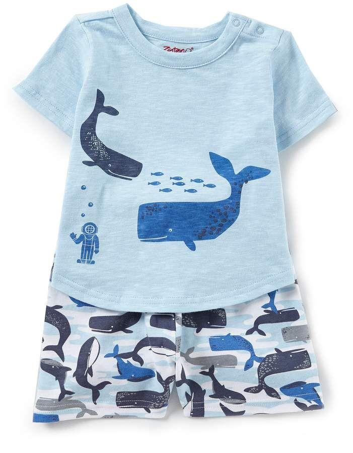 35a32c9b9 Zutano Baby Boys Short-Sleeve Whale Graphic Tee & Whale-Printed Shorts Set  #babyboy, #shorts, #dillards, #promotion
