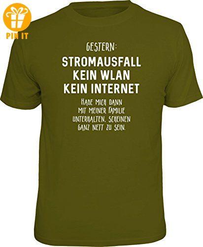 Original RAHMENLOS® T-Shirt für den Nerd: Stromausfall! Kein WLAN... Größe S, Nr.6131 - T-Shirts mit Spruch | Lustige und coole T-Shirts | Funny T-Shirts (*Partner-Link)