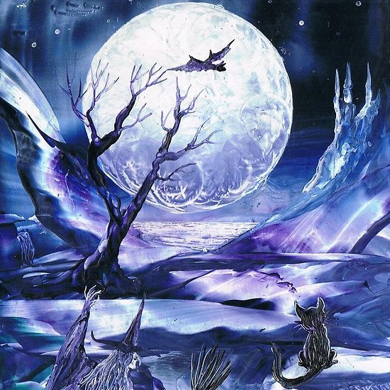 Samhain Moon by Maria Louise Moore