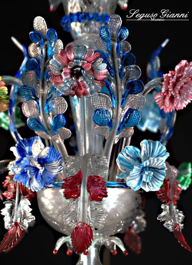 Multicolor Chandelier by Seguso Gianni  #chandelier #muranoglass #interiordecor #home #lighting #glass #venezia #murano #glassfactory