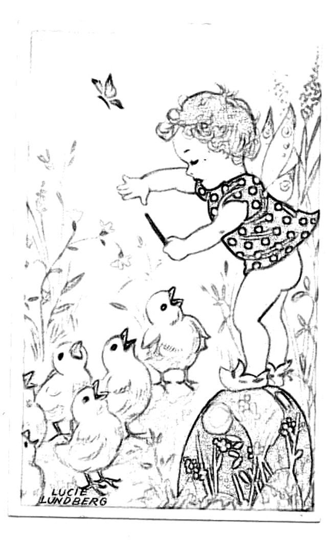 Blog Direct Open Free Easter Vintage Coloring Page