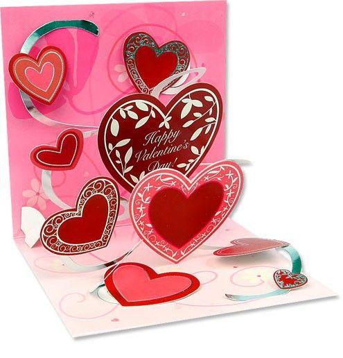 POP868 - Pop-up - Valentine Heart   Valentijn   kaartfanaat