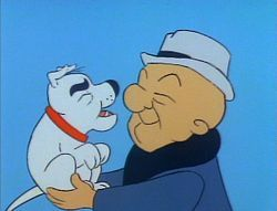 Quincy Magoo (or simply Mr. Magoo) is a cartoon character created at the UPA animation studio in 1949. Voiced by Jim Backus, Quincy Magoo is a wealthy, short-statured retiree who gets into a series of comical situations as a result of his nearsightedness, compounded by his stubborn refusal to admit the problem. However, through uncanny streaks of luck, the situation always seems to work itself out for him, leaving him no worse than before.