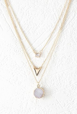 Rhinestone Layered Chain Necklace | Forever 21 - 1000145499