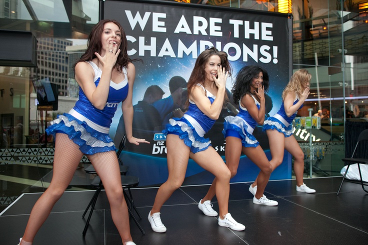 @SKYCITY Auckland - SKYCITY Cheer Girls performing at the SKYCITY Breakers celebration event