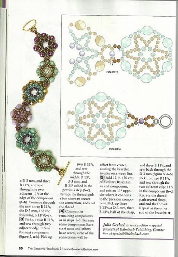 Схемы: Браслеты. Архив Beads and Button - Handbook 2