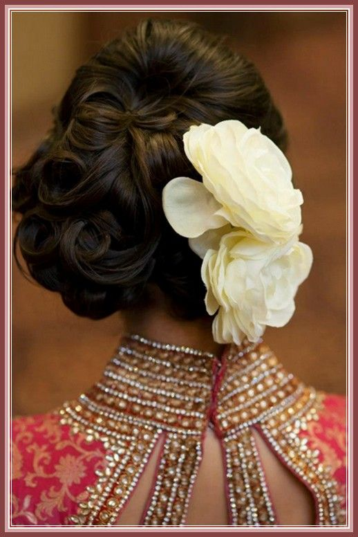 Hindu Wedding Reception Hairstyles - Wedding Idea