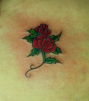 Tatuagem / Flores / Rosa / Colorida / Nádegas / Tattoo / Flowers / Rose / Colorful / Butt #studio900 #crismaia