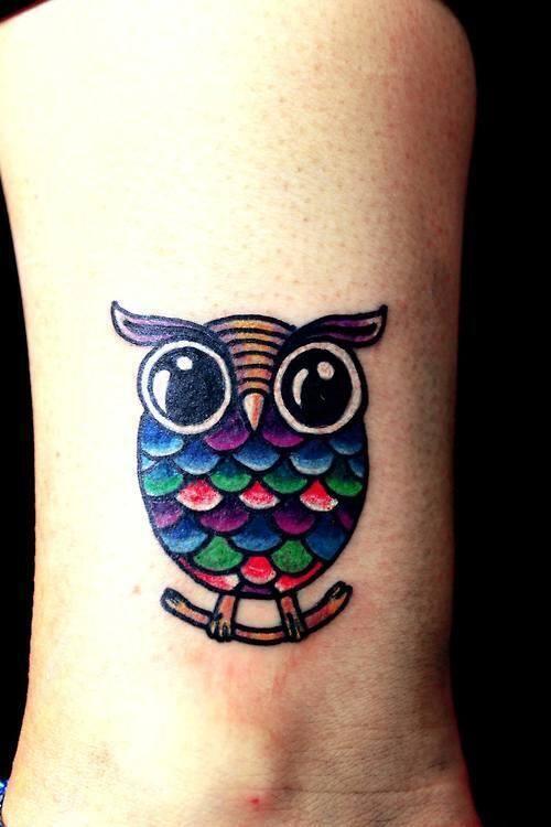 tattoo old school traditional ink owl tattoo. Black Bedroom Furniture Sets. Home Design Ideas