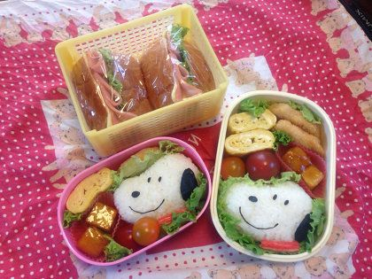お弁当:スヌーピーキャラ弁!