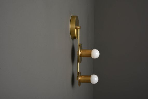 Gold Vanity Light Gold Sconce Raw Brass Light Mid Etsy Brass Lighting Wall Sconce Lighting Sconces