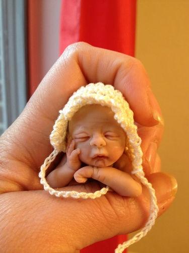 OOAK Polymer Clay Art Baby Girl Doll Artist Original Sculpt Elsie Wright   eBay
