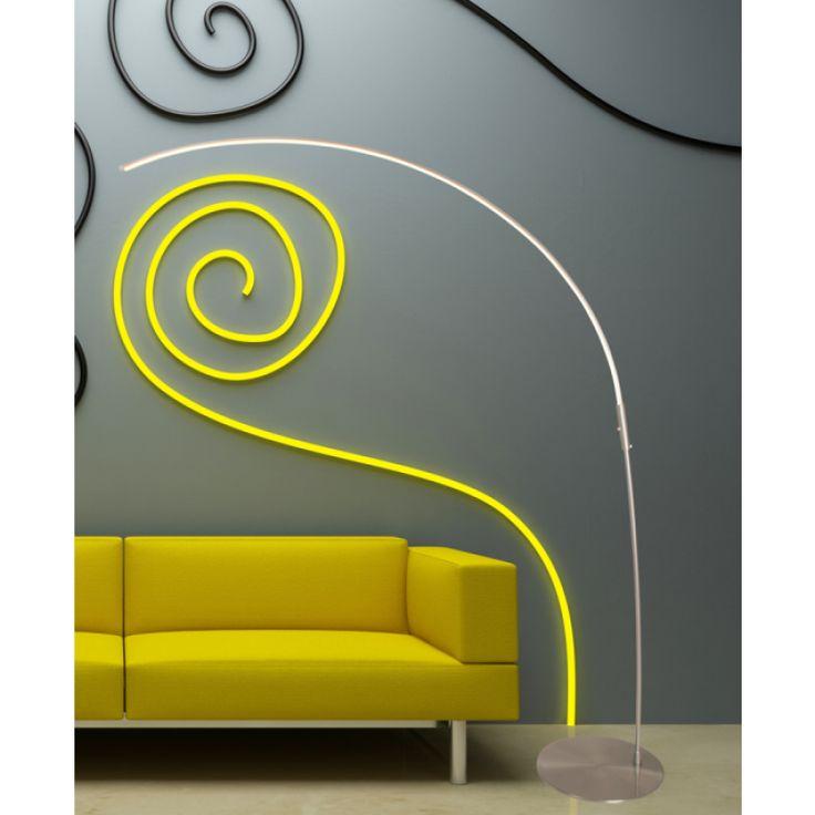 Steinhauer LED Bogenleuchte Arjuna stahl gebürstet #steinhauer #bogenleuchte #bogenlampe #LED #stehleuchte #stehlampe