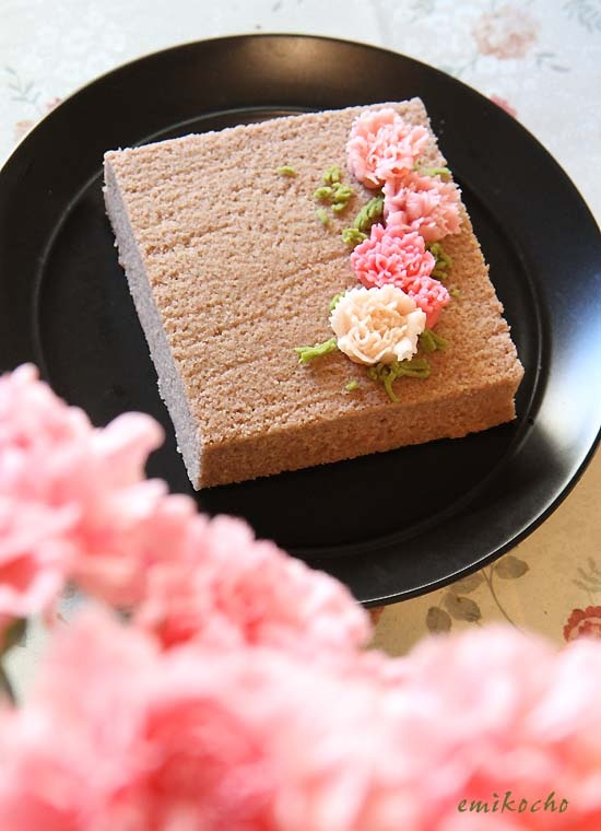 Mother's Day Carnation-shaped Wagashi Cake|練りきりカーネーションをあしらった浮島