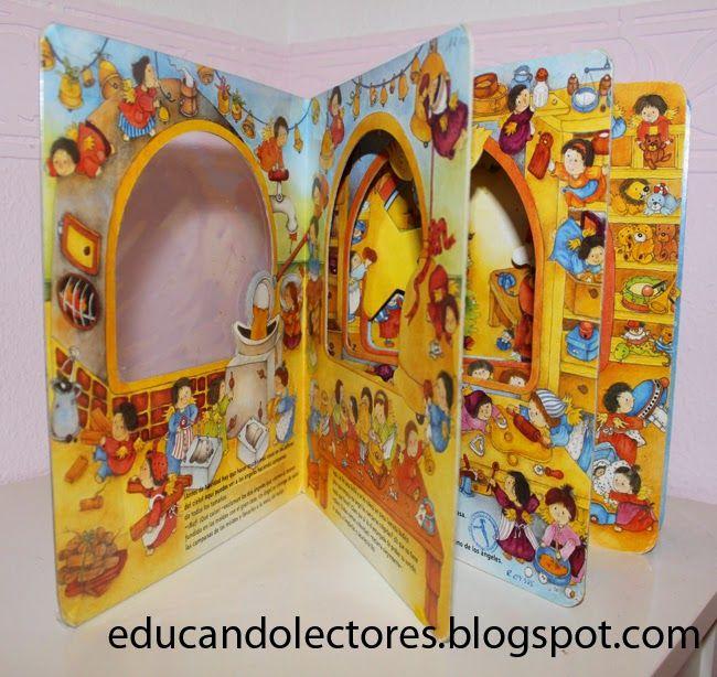 Un libro ventana para jugar a ser los ayudantes de Papá Noel.