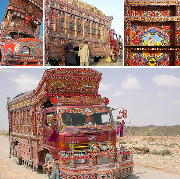 Pakistani truck art. Amazing.