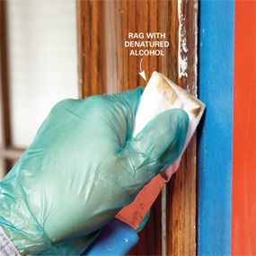 Cleaning Paint From Wood Trim With Denatured Alcohol