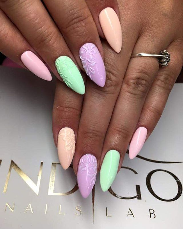 💜Discoteca Kiss, Ibiza Chill, Nevermint, Martini&bikini 💜 by Kasia Stachura Indigo Young Team 🤗 #indigonails #indigolicious #inspiration #instamoment #pastelnails #nailart #naildesign #inspiration #instafollowers #nailmania #nailmaster #nailporn #nailswag #gorgeousnails #goodmorning #wownails #wonderfulnails #deliciousnails #hotnails #sexynails #beautifulnails #goodmorning #summernails #nailofinstagram #nail #nails #nails4yummies #nails2inspire
