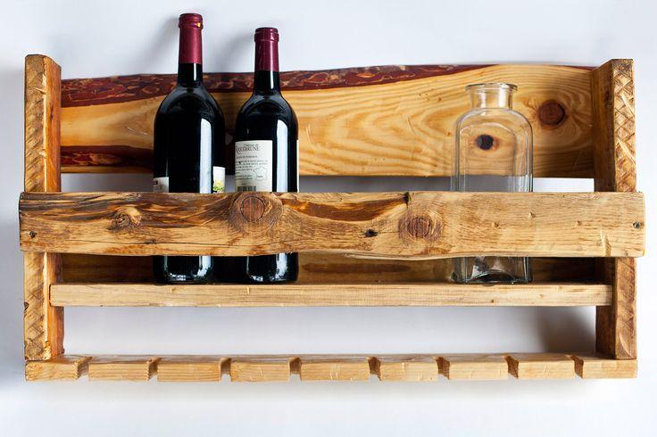 Wine rack. Idea, handpainted, handmade, wood, wood crafts, reclaimed, diy, decor, diyromania, shabby chic, kitchen.