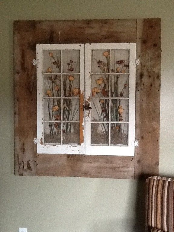 Old windows in a old barn wood frame my husband helped me with! Love it! | Craft ~ Your ~ HomeCraft ~ Your ~ Home