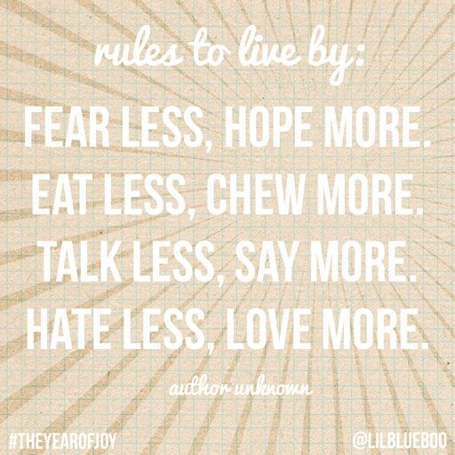 Rules to live by #quote