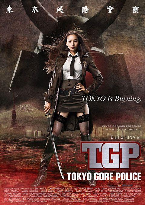 """TOKYO GORE POLICE Forse si tratta del film in cui sono stati versati più litri di sangue della storia del cinema e questo mare rosso fa passare in secondo piano la sceneggiatura inconsistente e le cadute di gusto. Per fortuna, non mancano trovate d'effetto, scene (quasi) memorabili e momenti di (mal)sano divertimento: non è Miike e non è Tsukamoto, ma il potenziale è buono. RSVP: """"Vampire Girl vs. Frankenstein Girl"""", """"Meatball Machine"""". Voto: 6/7."""