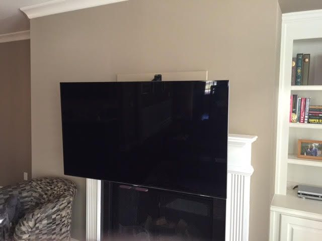 perfect tv mount the mantle mount is the perfect solution. Black Bedroom Furniture Sets. Home Design Ideas