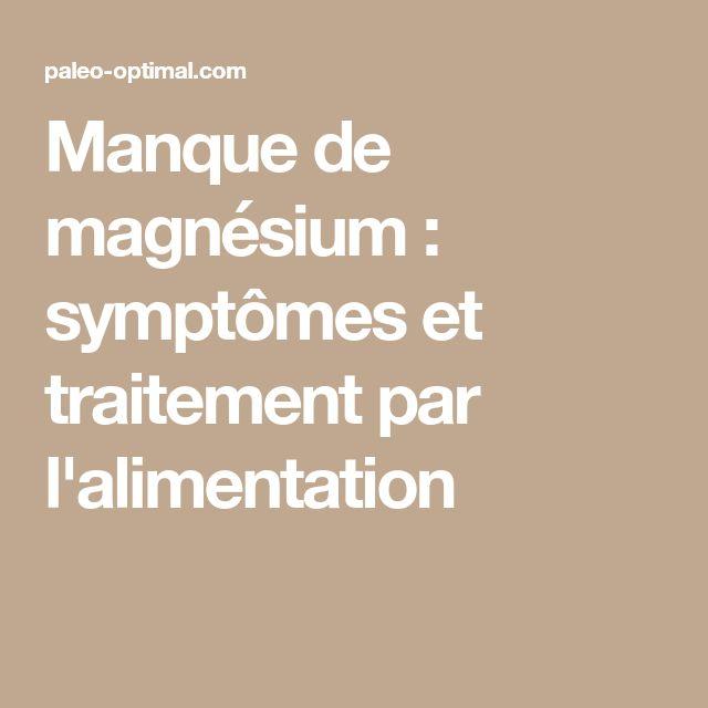 Manque de magnésium : symptômes et traitement par l'alimentation