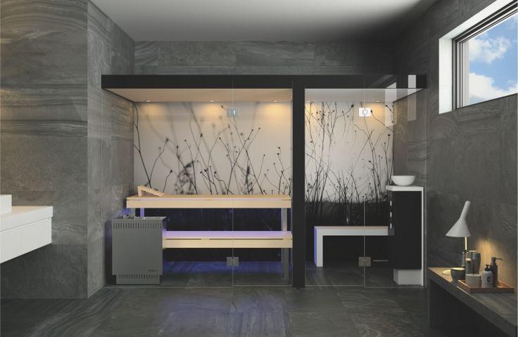 Zwei Wellnessrituale - Sauna und Dampfbad - wachsen im Modell Insieme harmonisch zusammen.