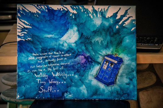 dr. who melted crayon art!