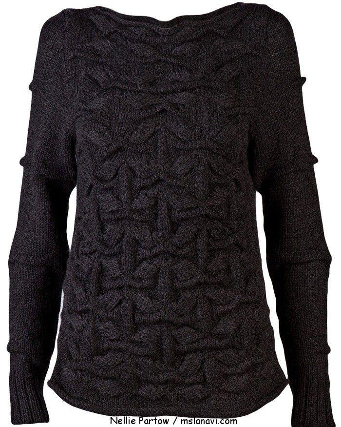 вязаный пуловер от Nellie Partow