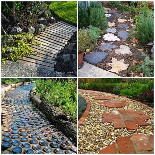 27 unique and creative diy garden path ideas gardening for Garden path designs