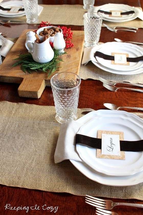 Antique White place settings and hostess set spotted on Keeping It Cozy