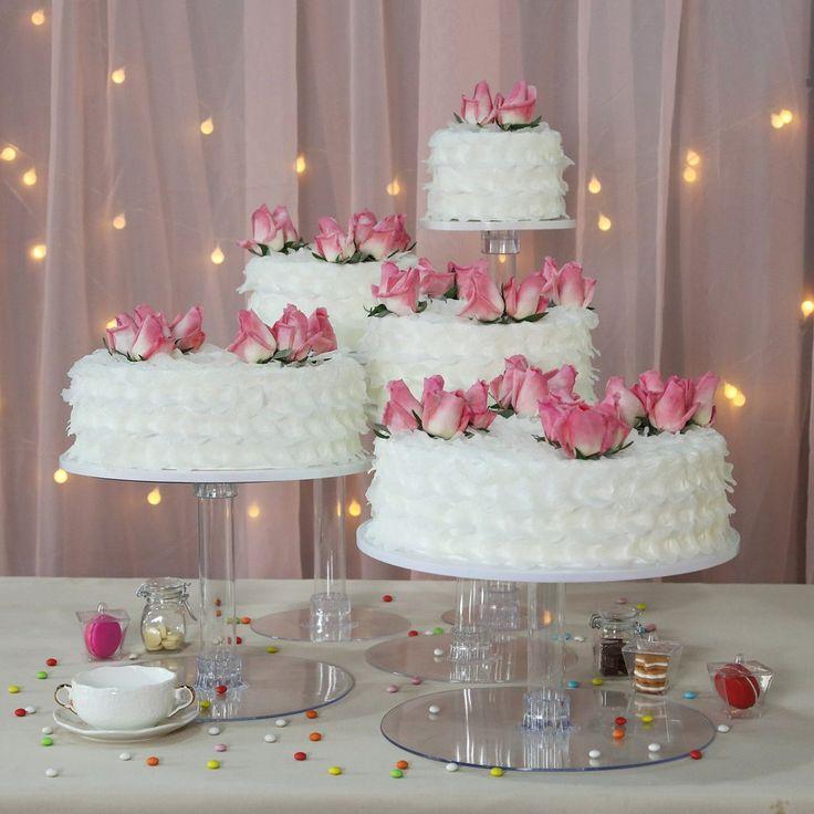 5 tier clear acrylic cupcake cake stand wedding cake